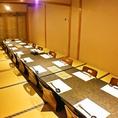 8名様用のお座敷はつなげて最大16名様でご利用も可能。