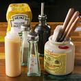 ステーキに相性抜群の<塩・コショウ・しょう油・ニンニク・マスタード>でお好みの味付けにて、お召し上がり下さい。