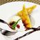 料理メニュー写真スイートポテト バニラアイスを添えて