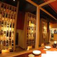 店内には自慢の焼酎・梅酒がずらりと並べられ、まさに圧巻!このバラエティの豊富さは県内有数!