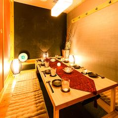 『和』情緒溢れる個室。最大8名様までご案内