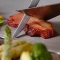 料理メニュー写真スモークベーコンと季節野菜