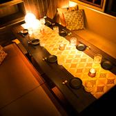 大人のテーブル個室。しっとり時におすすめです!特に合コンやデート、女子会でよくご利用頂いております♪純和風を基調としたシックで落ち着いたモダン空間は女性のお客様にも好評◎プライベートタイムをお楽しみいただけます♪