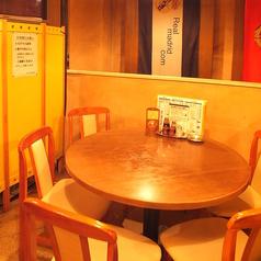 4名様でのご利用が多いお席です。円卓ならではの居心地の良さが魅力♪