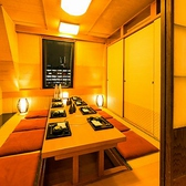 プライベート個室空間では、皆様にゆったりとしたお時間をお過ごし頂けます。