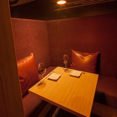 新宿での和食デートに最適!2名様L字型カップルシート