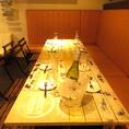 ご宴会にぴったりな最大10名様着席可能なテーブル席。