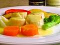 料理メニュー写真帆立貝柱のサフランソース