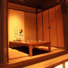 小上がりの掘りごたつ個室(4名)