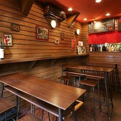 2~4名テーブル席。落ち着いてじっくりと料理を味わうのではなく、軽く一杯!という方にはこちらの席がオススメです!アットホームな一階は4名様席テーブルのみなので、お気軽にお楽しみいただけます。もちろんゆったり過ごしたいお客様にもオススメしております。ぜひご利用くださいませ!