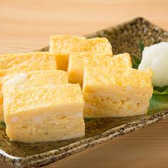 厚焼き玉子/厚焼き玉子明太マヨ/鶏ハラミ炭火焼/いか醤油焼