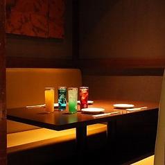 こもり感も十分ある半個室はサラリーマンの方や接待利用にも大人気!
