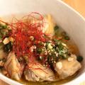 料理メニュー写真やわらか鶏のあっさりスープ仕立て ~香味ソースがけ~