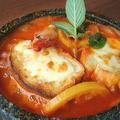 料理メニュー写真シェーナ名物石焼グラタンスープ風スパゲッティ