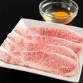 料理メニュー写真黒毛和牛カルビ焼きすき