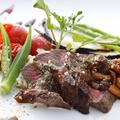 料理メニュー写真黒毛和牛のステーキ~自家製玉ねぎソース~