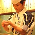 新鮮なネタを職人が握ります。本格寿司が気軽に楽しめますよ!