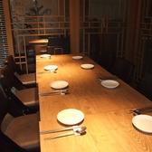 ゆっくりと寛いで頂けるテーブル個室