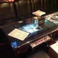 懐かしのゲーム台がテーブルに…