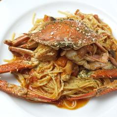 まるごと渡り蟹のトマトスパゲティ