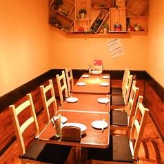 最大12名様迄の個室は女子会・合コン・お友達との飲み会にも最適♪人気のためご予約はお早めに!