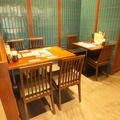 6名様まで対応のテーブル席