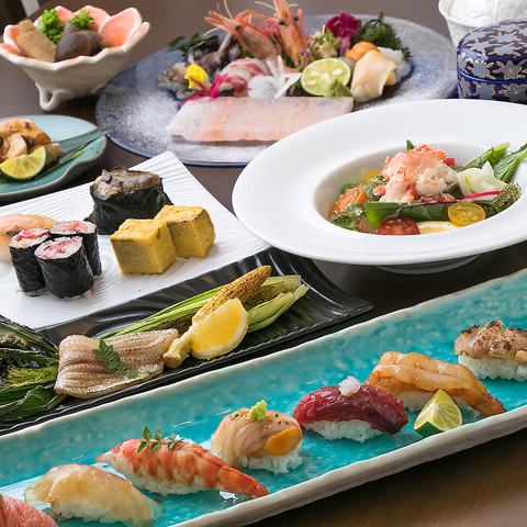 ◇旬の美味しい食材を生かした斬新な江戸前鮨と豊富な日本酒を楽しめるお店◇