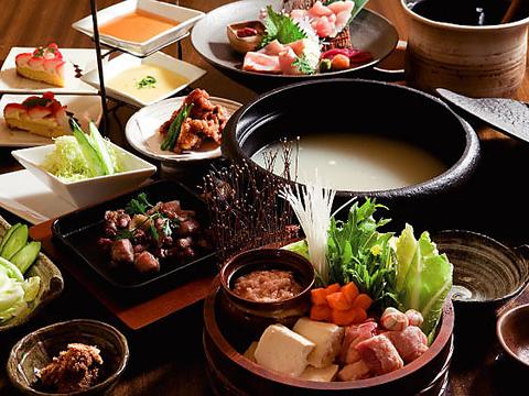 古民家を改築した落ち着いた和空間で楽しむ福岡名物料理。コース2100円よりご用意!