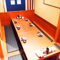 地階:広めの掘りごたつの個室席