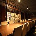 ◆G卓・6名掛けのテーブル席です(テーブルを結合して最大30名様までご利用可能です◆
