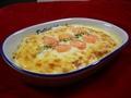 料理メニュー写真えびとチーズのグラタン