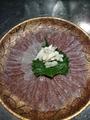 料理メニュー写真カワハギの薄造り