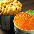 料理メニュー写真ミニいくら丼/ミニ雲丹丼