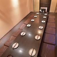 最大16名様まで対応可能な個室もご準備してます。