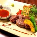 料理メニュー写真牛サガリのサイコロステーキ 和風おろしソース