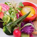 料理メニュー写真新鮮野菜のスモーク香るバーニャカウダ
