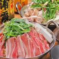 料理メニュー写真豚バラ鍋/もつ鍋