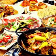 【4500円】スペイン料理を一つのコースで楽しめる♪