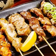 串焼き6本盛り(牛ホルモン串入り)