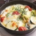 料理メニュー写真揚げナスとトマトのグラタン