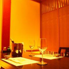 お2人様でのデートに完全個室のご利用もあります。