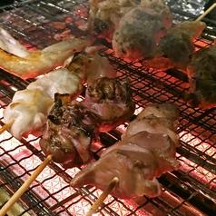 料理メニュー写真[地鶏串] もも/かわ/キモ/こころ/とりハラミ/せせり/ねぎま/ずり/カッパなんこつ