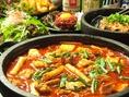 人気の韓国風赤辛もつ鍋は癖になる逸品!この時期家族で食べたいお鍋。みんなで囲んで汗をかきながら旨辛堪能してください♪