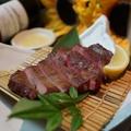 料理メニュー写真牛タンの炙り~広島生藻塩レモンで~