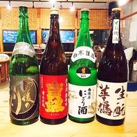 魚介料理にピッタリな豊富な焼酎/日本酒