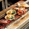 新鮮魚介を炭火焼で。北海道産大あさりは店長おすすめ!磯の香りとジューシーな味わいを是非ご堪能ください。