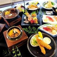 お寿司や天婦羅など選べる2つの【食飲放題コース】有り