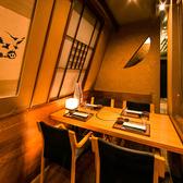 2名様~ご利用頂ける個室席をご用意。雰囲気満点の癒やしの空間。テーブル・座敷などお客様のご希望に合う席をご選択下さい。記憶に残る素敵なひと時を♪