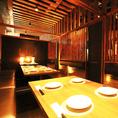 【少人数個室】柔らかな照明が灯る個室空間は女子会や合コンにも最適です!渋谷駅徒歩2分と駅チカで集まりやすい立地◎