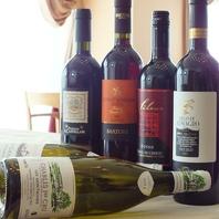 豊富な種類のワインをご用意しております☆